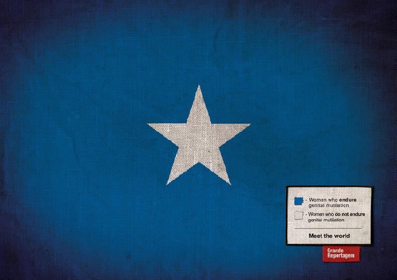Steagul Somaliei privit dintr-o alta perspectiva... Afis prin care se incearca sensibilizarea publicului cu privire la atrocitatile suferite de femeile din Somalia. http://adsoftheworld.com/media/print/grande_reportagem_magazine_somalia_flag