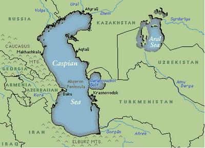 Zona Mării Caspice: premise