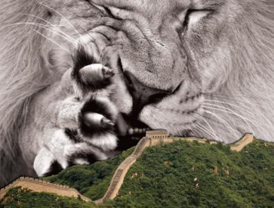 Leul adormit s-a trezit de mult. Acum îşi ascute ghearele