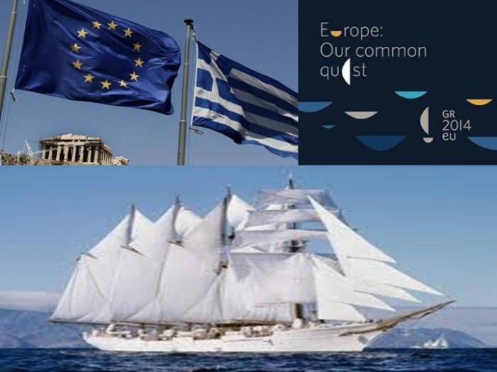 Corabia grecească, proaspăt peticită, la datorie în fruntea Consiliului UE