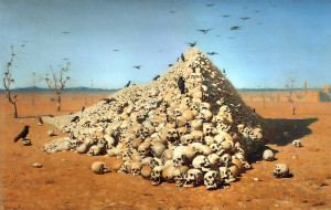 Sursa: The Apotheosis of War (1871) de Vasily Vereshchagin