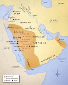 Expansiunea islamică în timpul lui Muhammad
