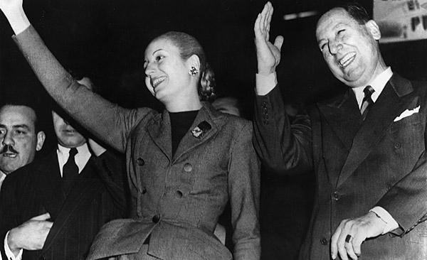 """Generalul Juan Perón şi """"Evita"""""""